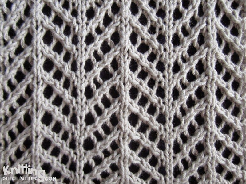 Pretty Arrowhead Lace pattern fits for many cool projects ...