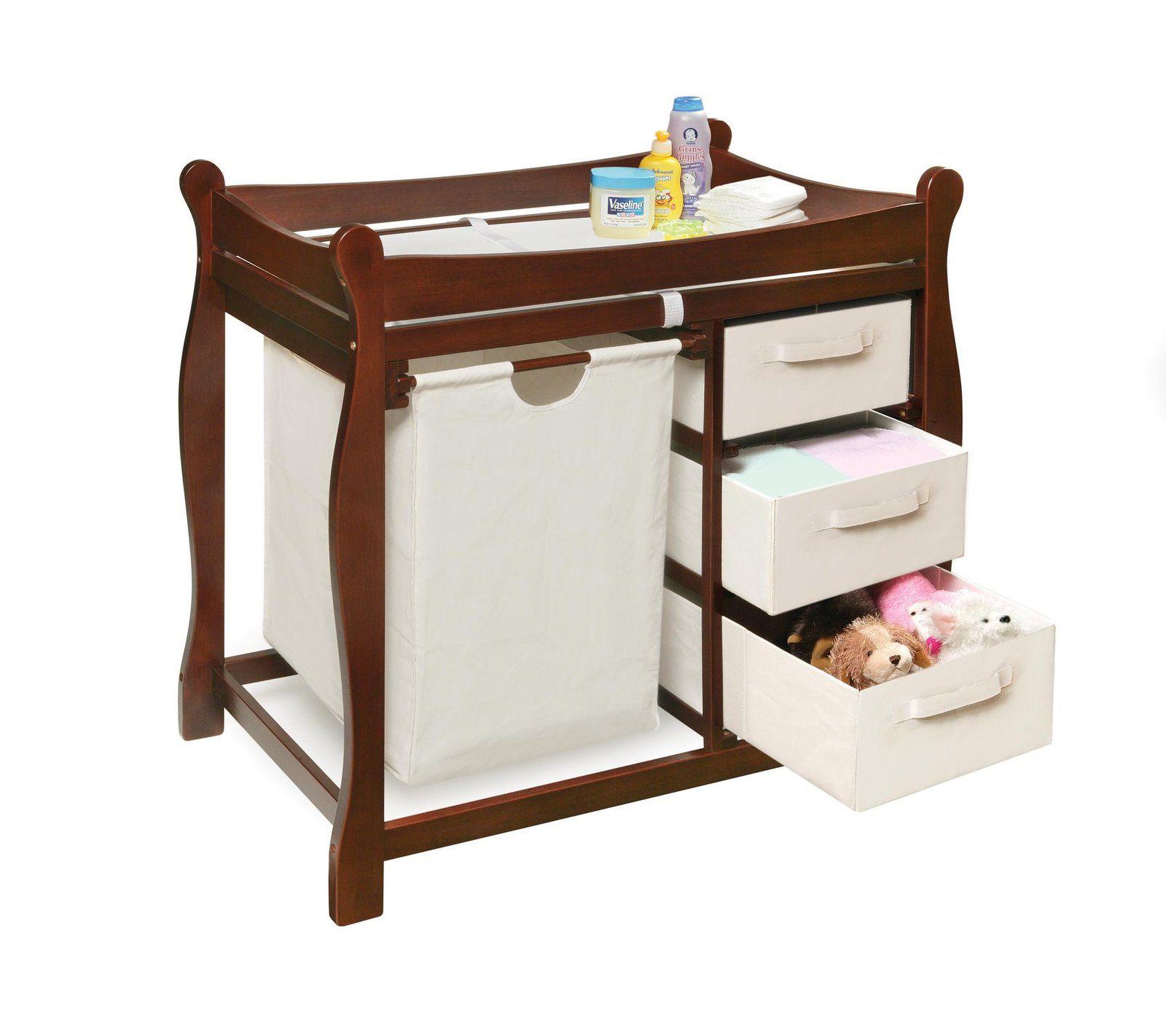 Diaperscomnursery badger basket changing table with hamper u baskets