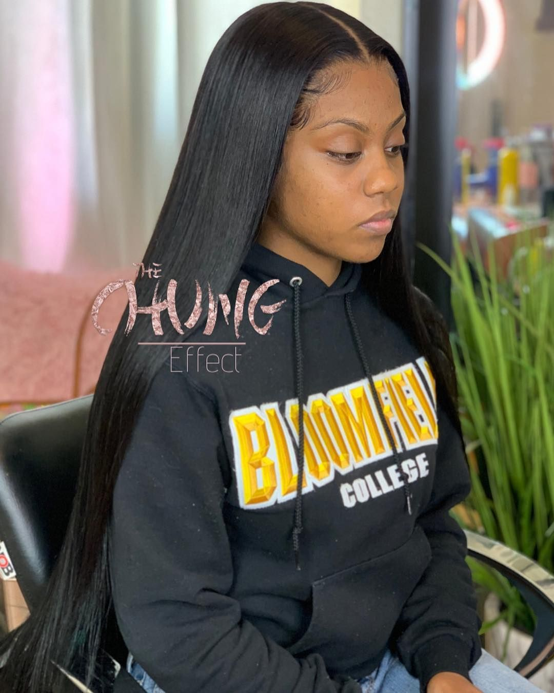 Latoya Chung Smith On Instagram Bomb Com Yay Or Nayy Frontal Sewin Middle Part Sew In Straight Hair Black Girl Weave Prom Hair Black Girls Weave