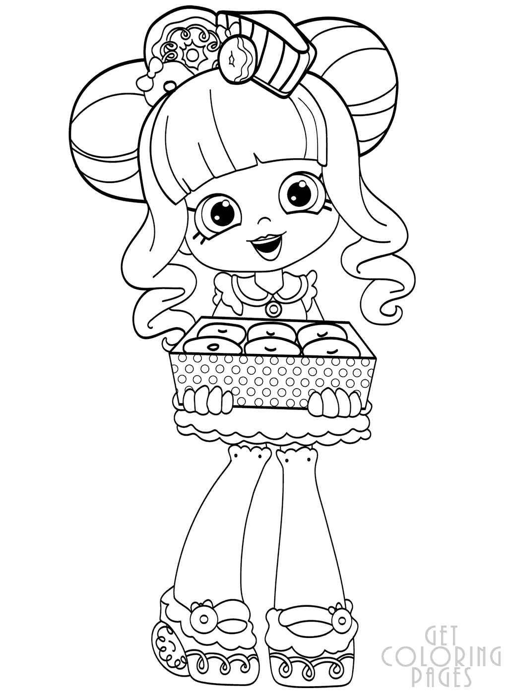 Donatina | Shopkins colouring pages, Cute coloring pages ...