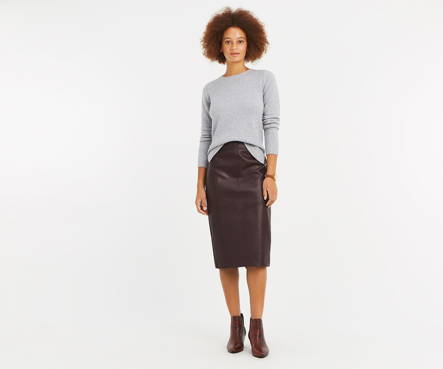 52c7c0c3703e Oasis Faux Leather Midi Skirt – DACC