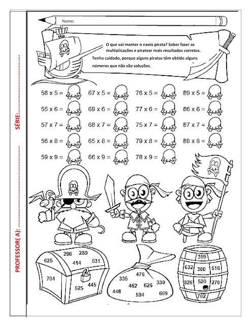 Blog De Atividades Fundamental 1 E 2 Multiplicacao Tema