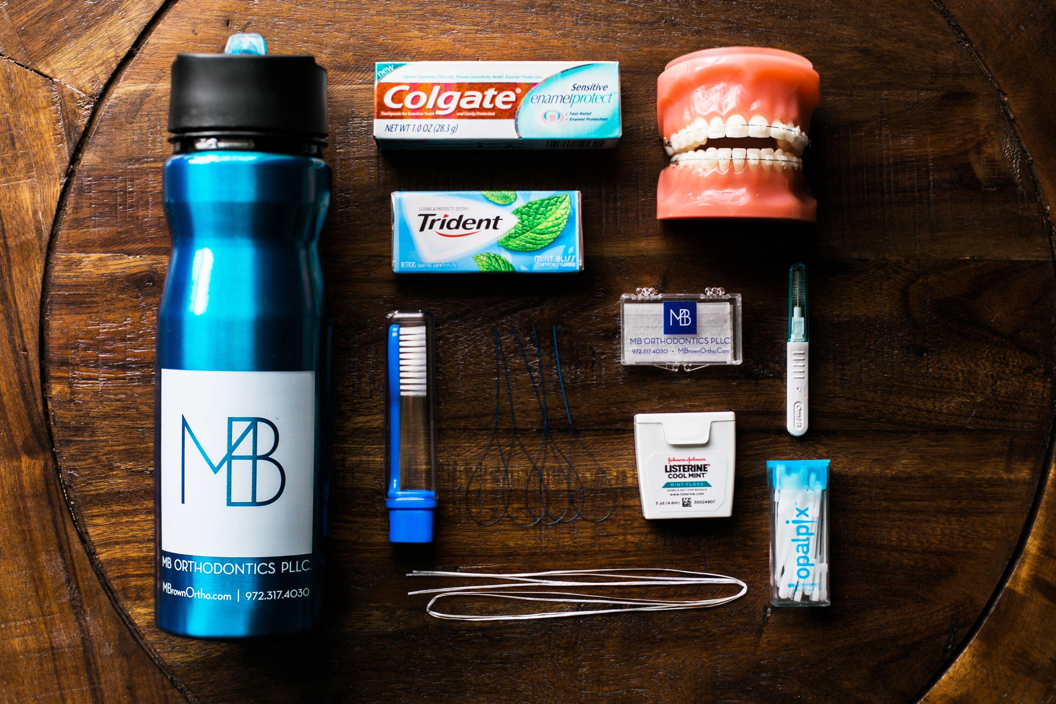 Braces starter kit toothpaste sugar free gum wax floss