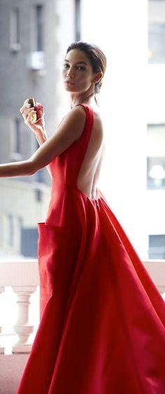 87e21efd2 Carolina Herrera V | Vestido formal largo en 2019 | Vestidos rojos ...