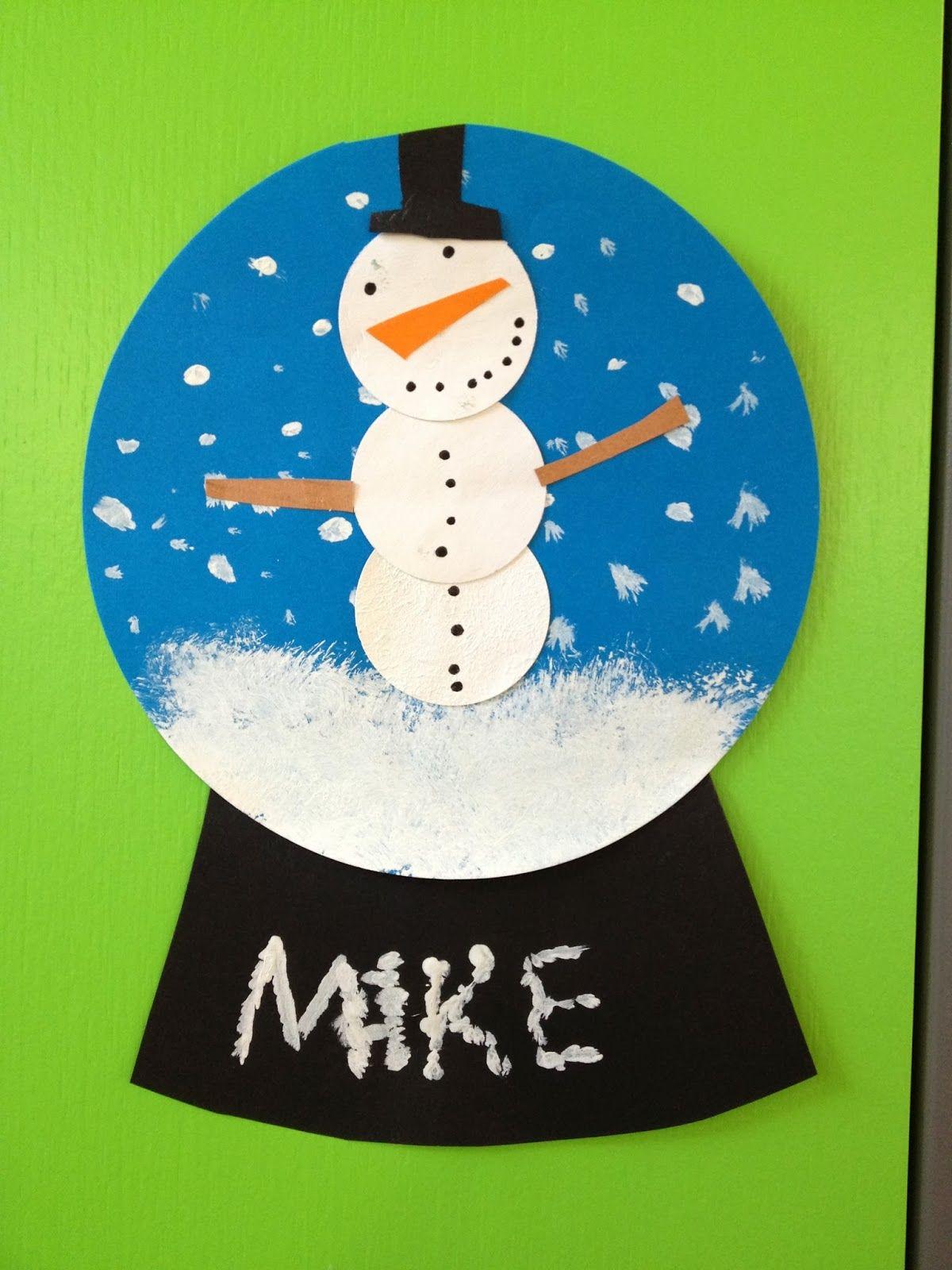 klassenkunst schneekugeln aus papier basteln mit kindern schneekugel basteln winter und
