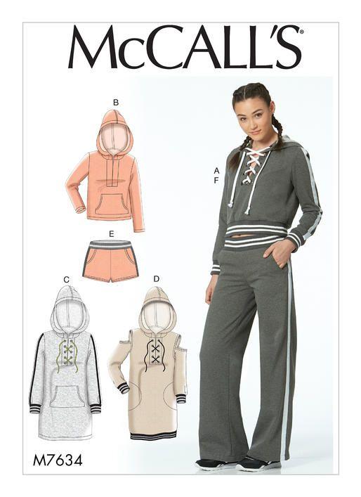 McCalls Misses\' Knit Tops, Dresses, Shorts, and Pants 7634 | Pinterest