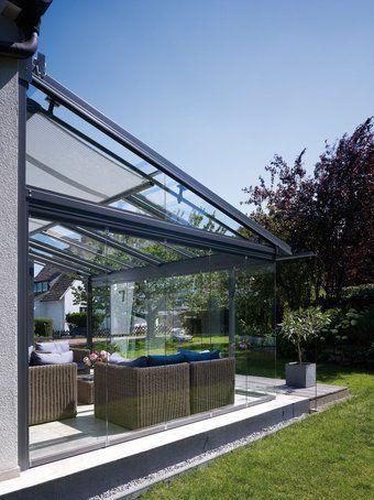 überdachte Terrasse wintergarten oder überdachte terrasse beides garten grün