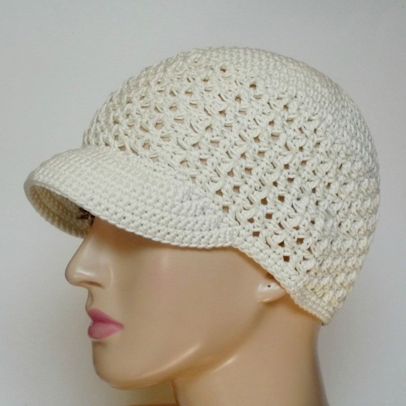 Free Newsboy Cap Crochet Pattern! The gorgeous open texture and the ...
