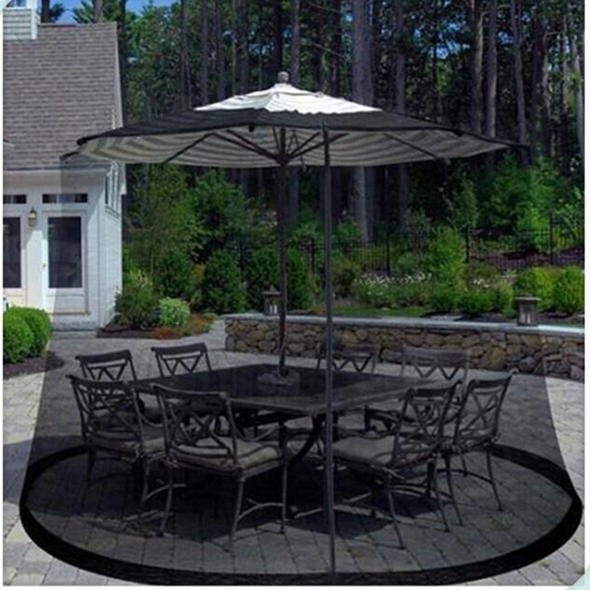 New Yard Umbrella Screen Cover Mosquito Bug Insect Net