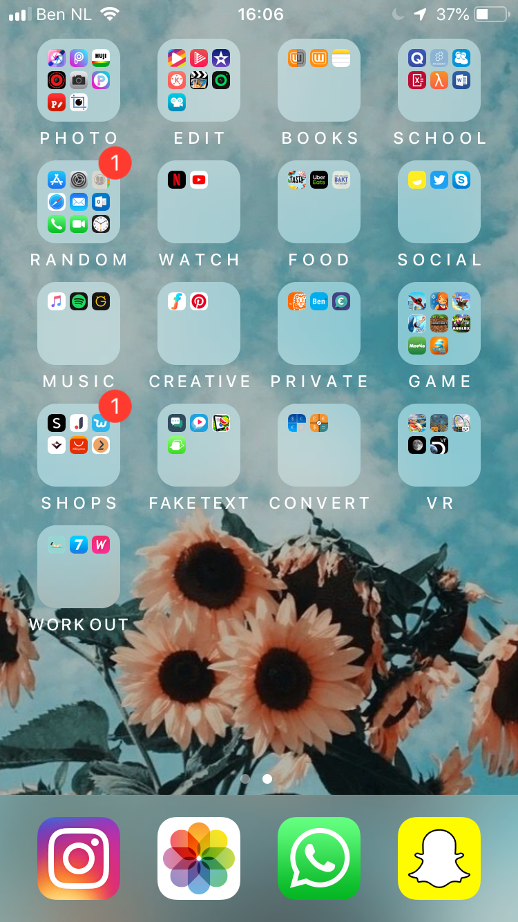 Aesthetic Iphone Home Screen Layout