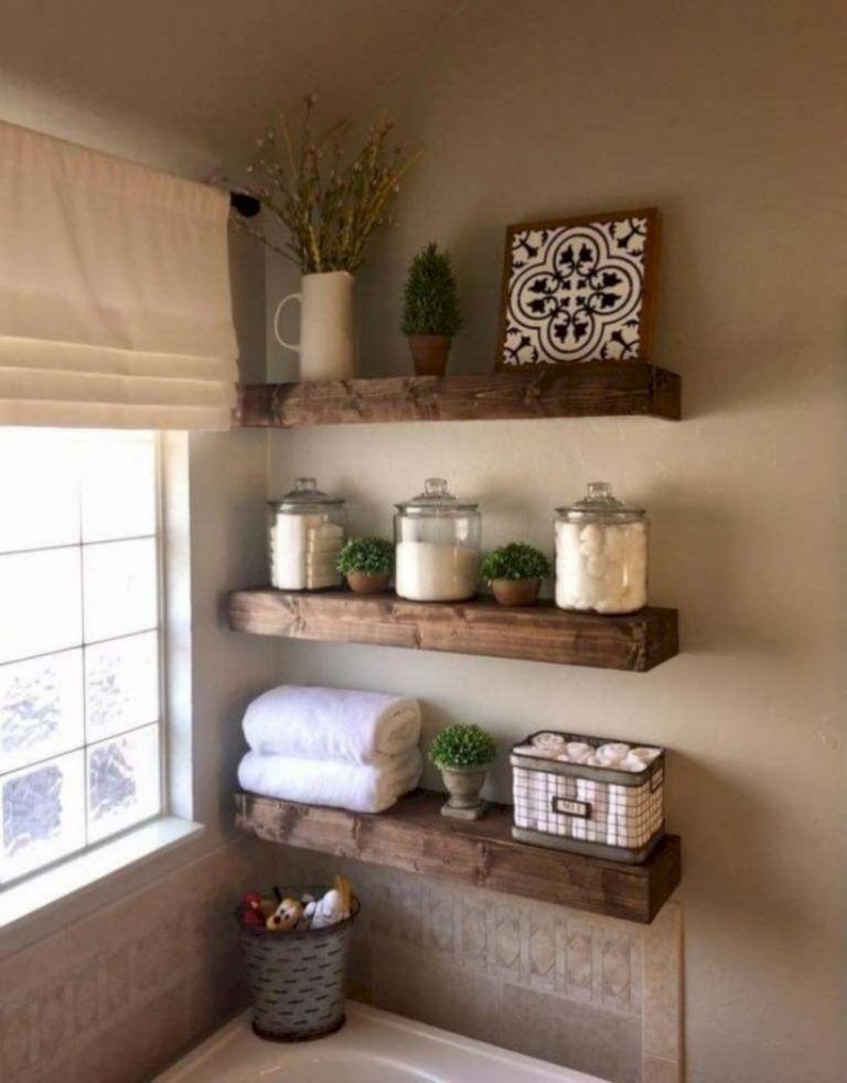 45+ Comfy Farmhouse Bathroom Decor Ideas With Rustic Style