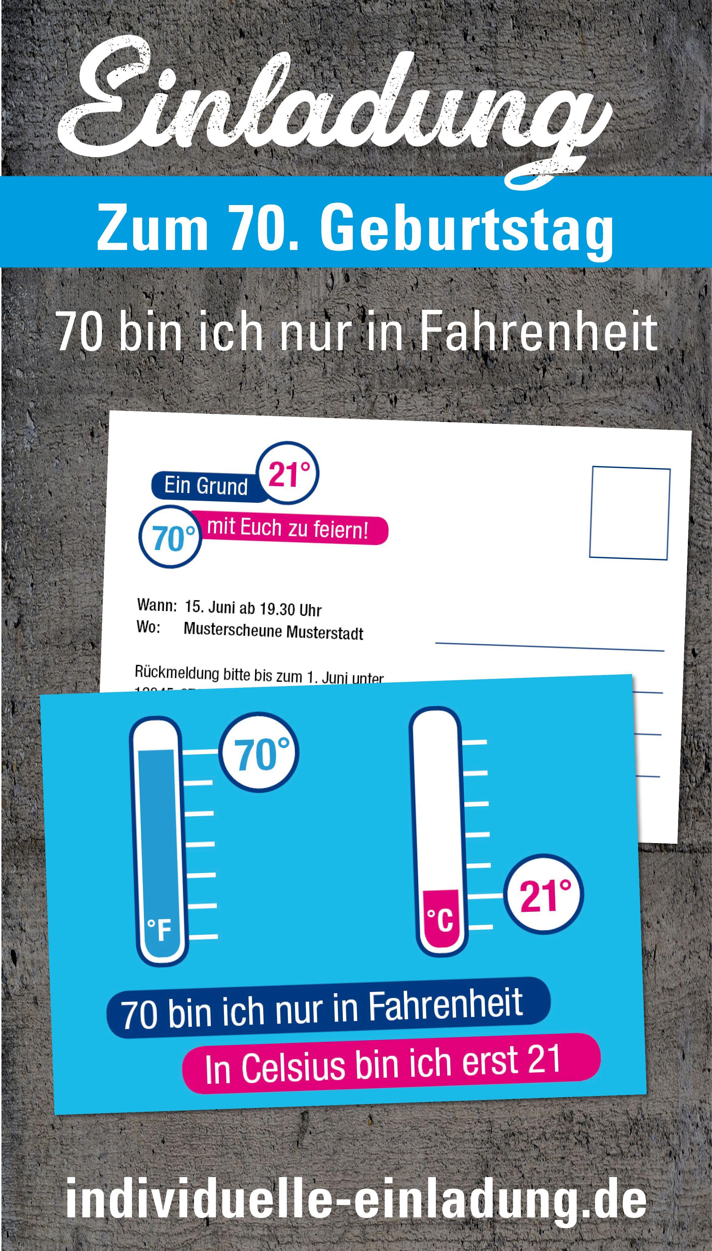 Einladung Zum 70 Geburtstag Geburtstagseinladungen Einladung 70 Geburtstag Einladungen