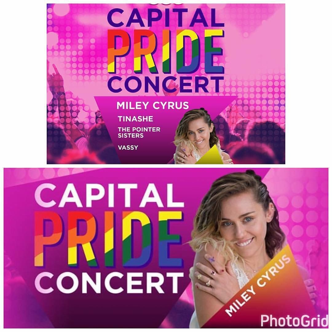 Miley Cyrus, Tinashe, The Pointer Sisters, VASSY to Headline Capital Pride Concert