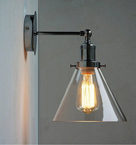 NEW Modern Industrial Vintage Style Chrome Wall Lamp Retro