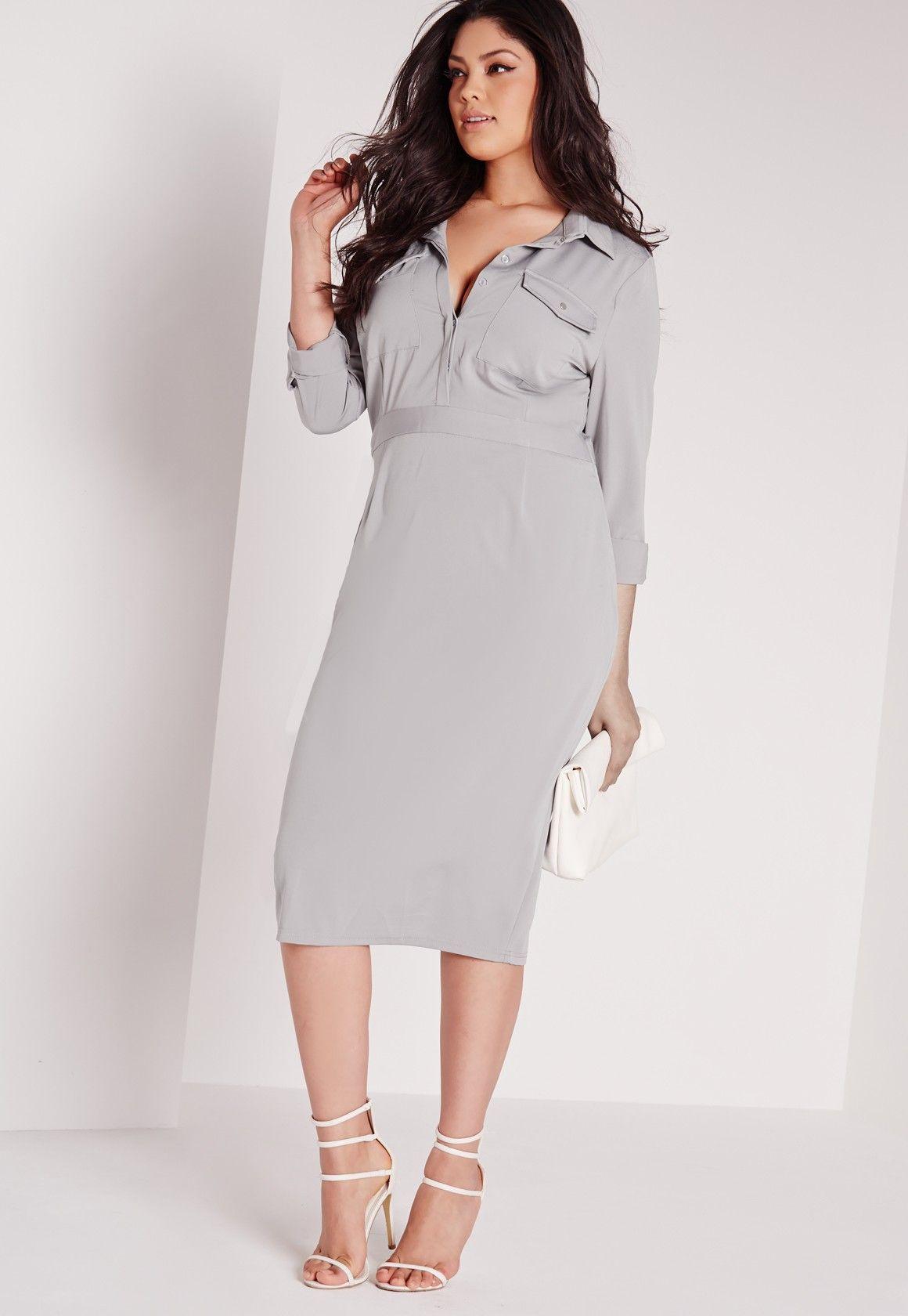 plus size slinky midi dress grey $51.00. 12 and 16