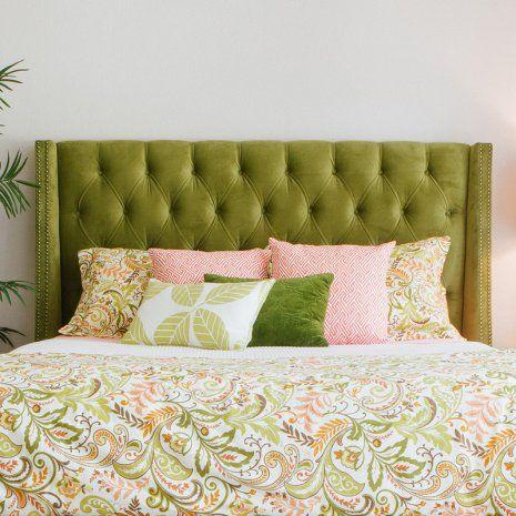 green upholstered headboard on Headboards For Sale Shop At Hayneedle Com Upholstered Headboard Home Decor Bedroom Headboard