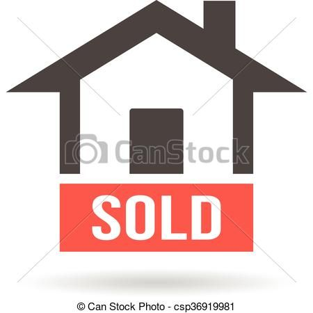 Sold House Logo Vector Graphic Design Csp36919981 Home Logo Selling House Internet Marketing Strategy