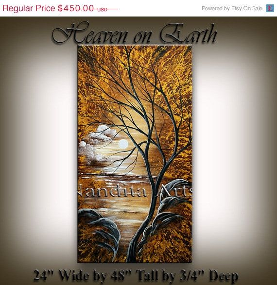 ART SALE Contemporary Art Landscape Painting - Landscape Painting for sale Original Abstract Painting Online Fine Art Gallery Sunsets Tree
