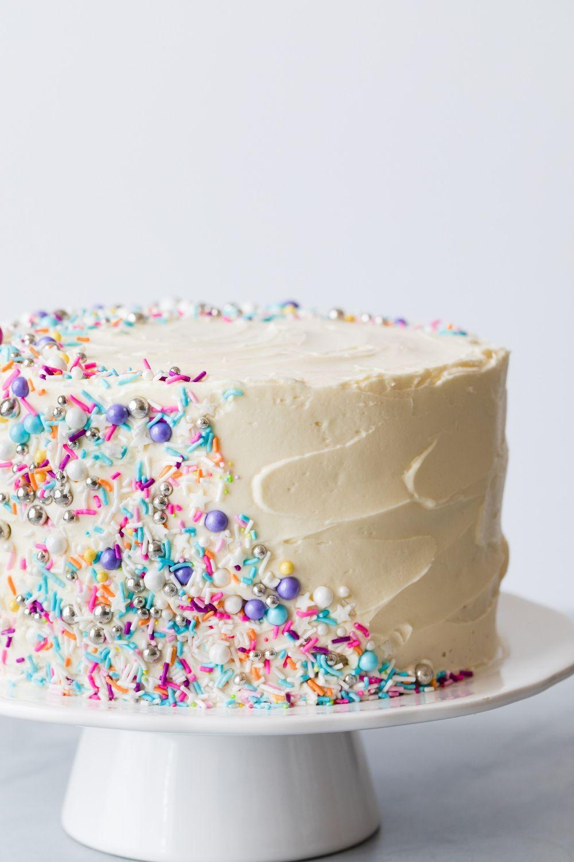 Admirable Funfetti Cake Confetti Cake Recipe Small Birthday Cakes Funny Birthday Cards Online Necthendildamsfinfo