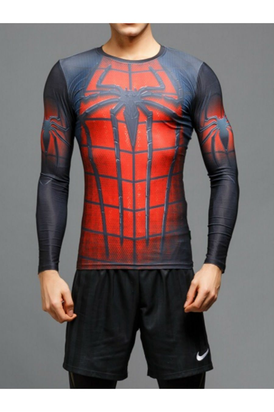 78d46cf77 3D Spiderman Long Sleeve T-Shirt