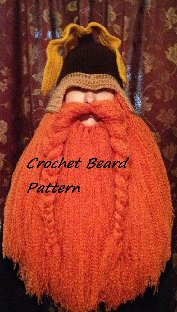 Crochet Beard Pattern | Crochet, Crocheted beard pattern ...