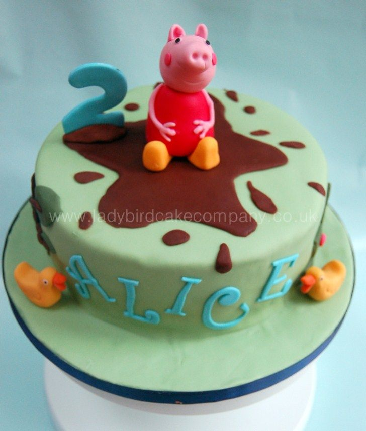 Peppa pig cake abby and violet 4 pinterest cake pig for Peppa pig cake template free