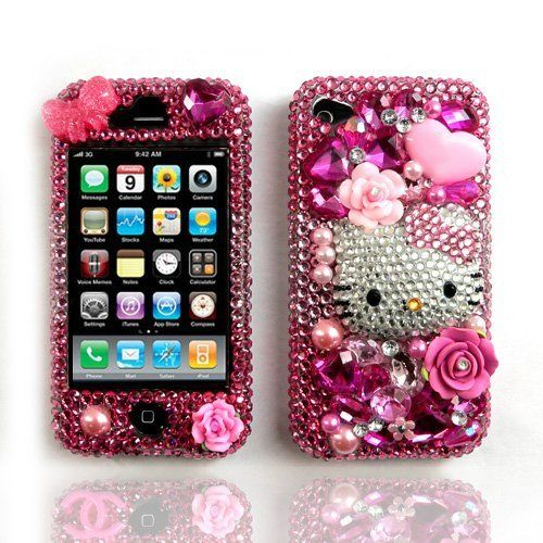 3D Pink Hello Kitty Bling Swarovski Crystals Cell Phone Case Cover Compatible for iPhone 4G and iPhone 4S by Design-It, http://www.amazon.com/gp/product/B007HYC3MA?ie=UTF8=213733=393177=B007HYC3MA=shr=abacusonlines-20=1355524577=8-68=bling+embellishment via @amazon