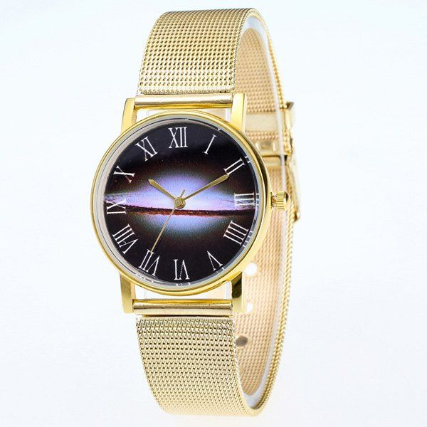 Stainless Steel Milky Way Dial Watch #>=#>=#>=#>=#> Click on the pin to check out discount price, color, size, shipping, etc. Save and like it!