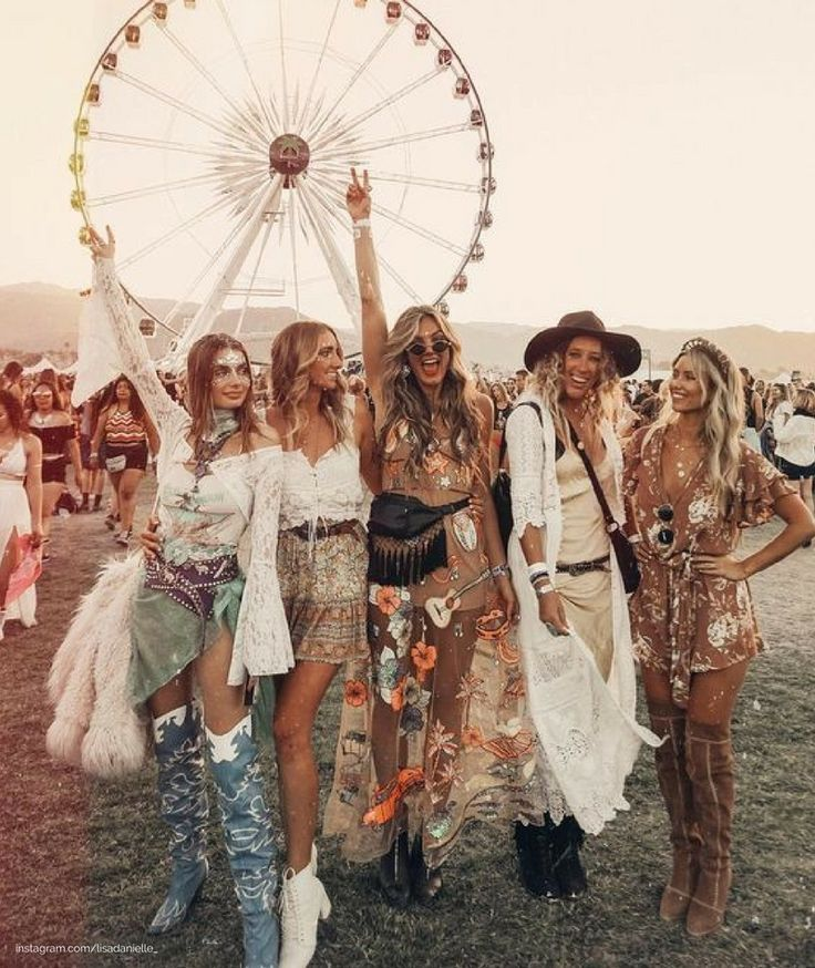 coachella looks, coachella outfits, festival looks, festival outfits, embroidered dress, thigh high boots, chunky boots, white booties, western style, black fanny pack, leather fanny pack