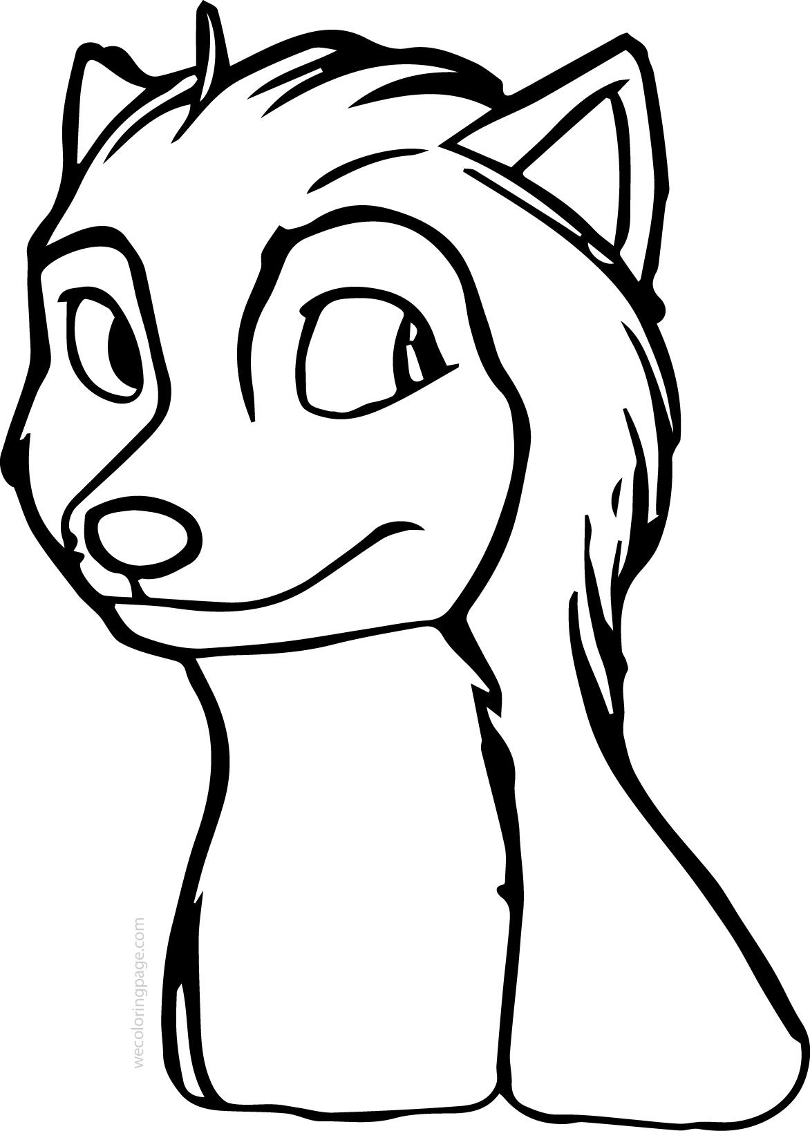 Nice Runt Alpha And Omega Wolf Coloring Page