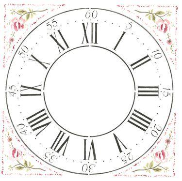 Clock Face Template | Clocks & Clock Faces