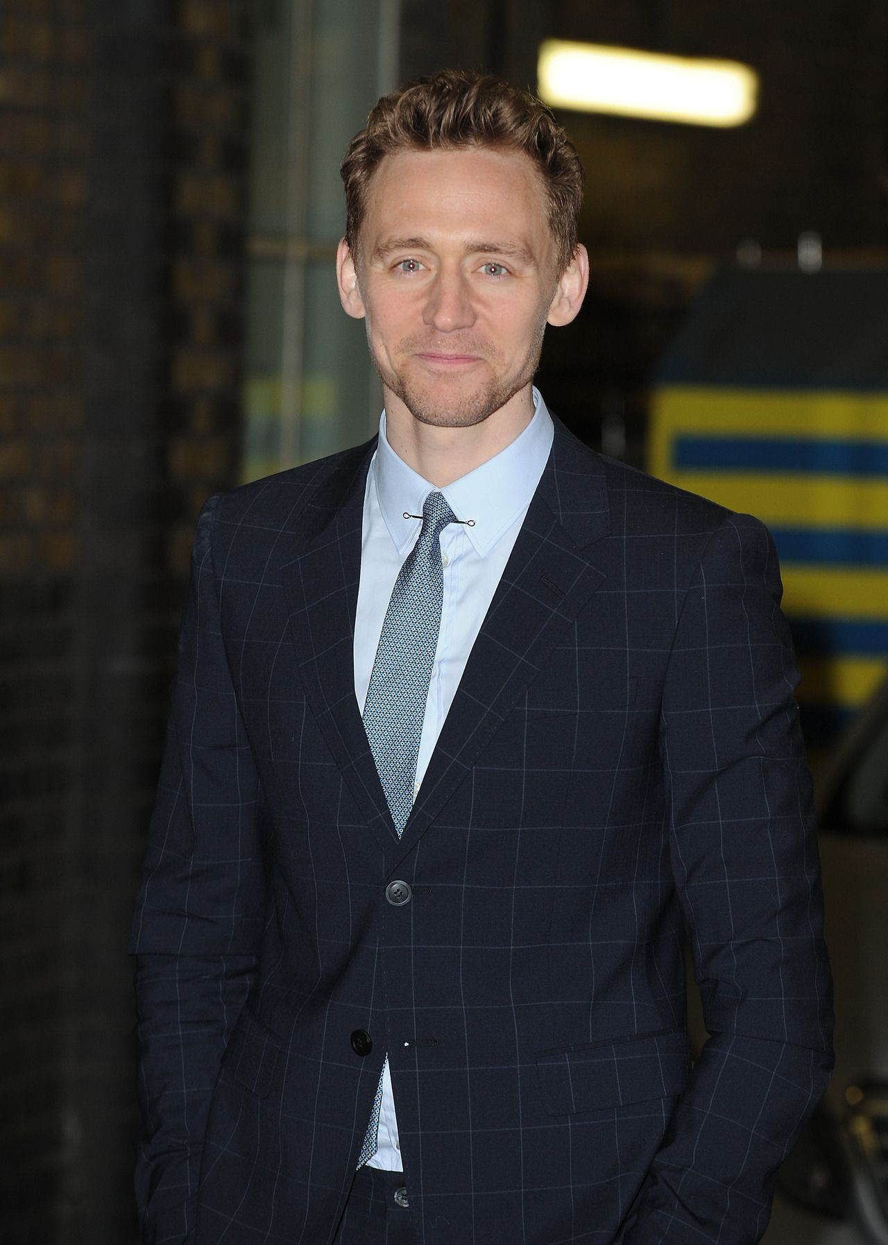 Tom Hiddleston pictured at the ITV studios on April 11, 2013 in London, England.