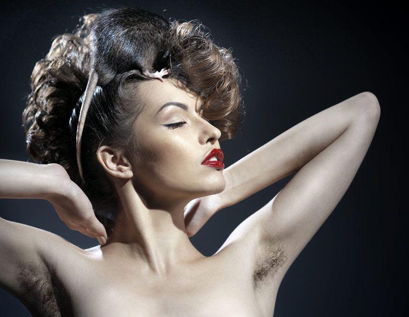 Beauty hairy
