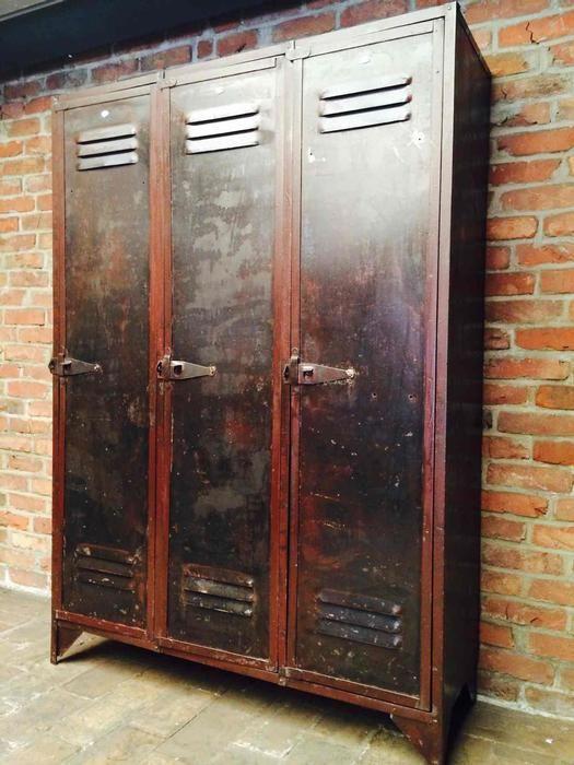 Industrial Great Metal Lockers Industrial Vintage In