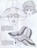 1960-70's hat millinery fashion sketch