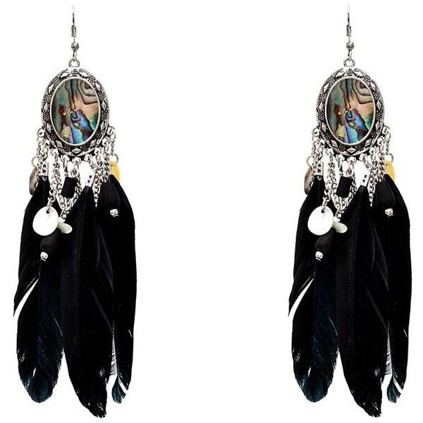 Black Abalone Feather Chandelier Earrings and other apparel, accessories and trends. Browse and shop 8 related looks.
