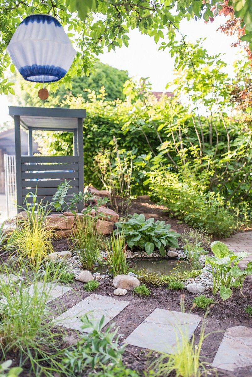 Kleiner Teich im Garten | Garten Ideen + Deko | Pinterest | Kleine ...