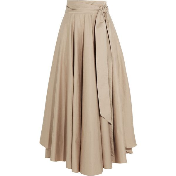 Tibi Obi cotton-crepe maxi skirt found on Polyvore featuring ...