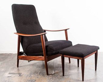 Mid Century Danish Modern Lounge Chair Teak Armchair Recliner Ottoman Westnofa Arne Vodder Hans A Danish Modern Lounge Chair Teak Armchair Leather Lounge Chair