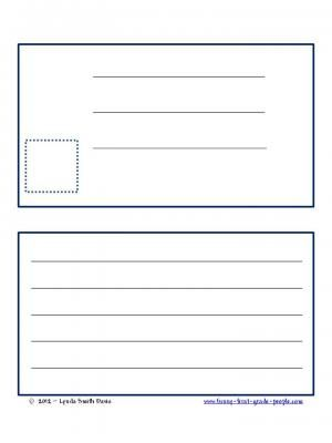 Free Postcard Template from Funny First Grade on TeachersNotebook - postcard template