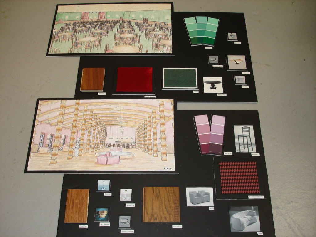 Interior Design Material Boards