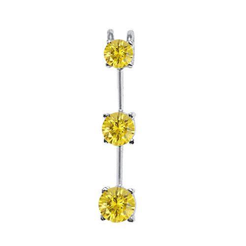 Diamant Anhänger Trilogie aus 585er Gold - Gelbe Diamanten ab 199 Euro bei www.Diamantring.be