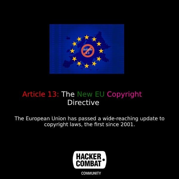 Article 13 The New EU Copyright Directive Password
