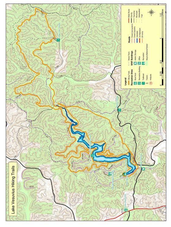 Lake Vesuvius Backpack Trail Map Trails Pinterest Trail Maps - Vesuvius map