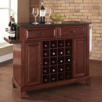 Crosley Furniture Newport Granite Wine Console Table For the Home
