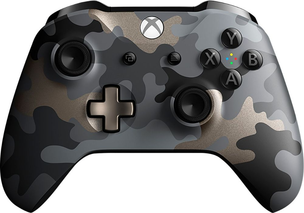 Microsoft Wireless Controller For Xbox One And Windows 10 Night Ops Camo Special Edition Xbox Wireless Controller Xbox One Controller Xbox One