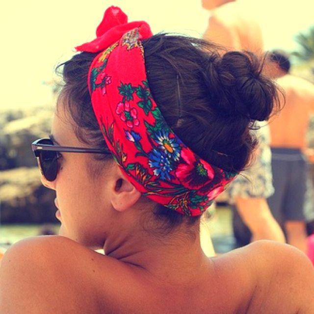 bandana headband i love how this looks!