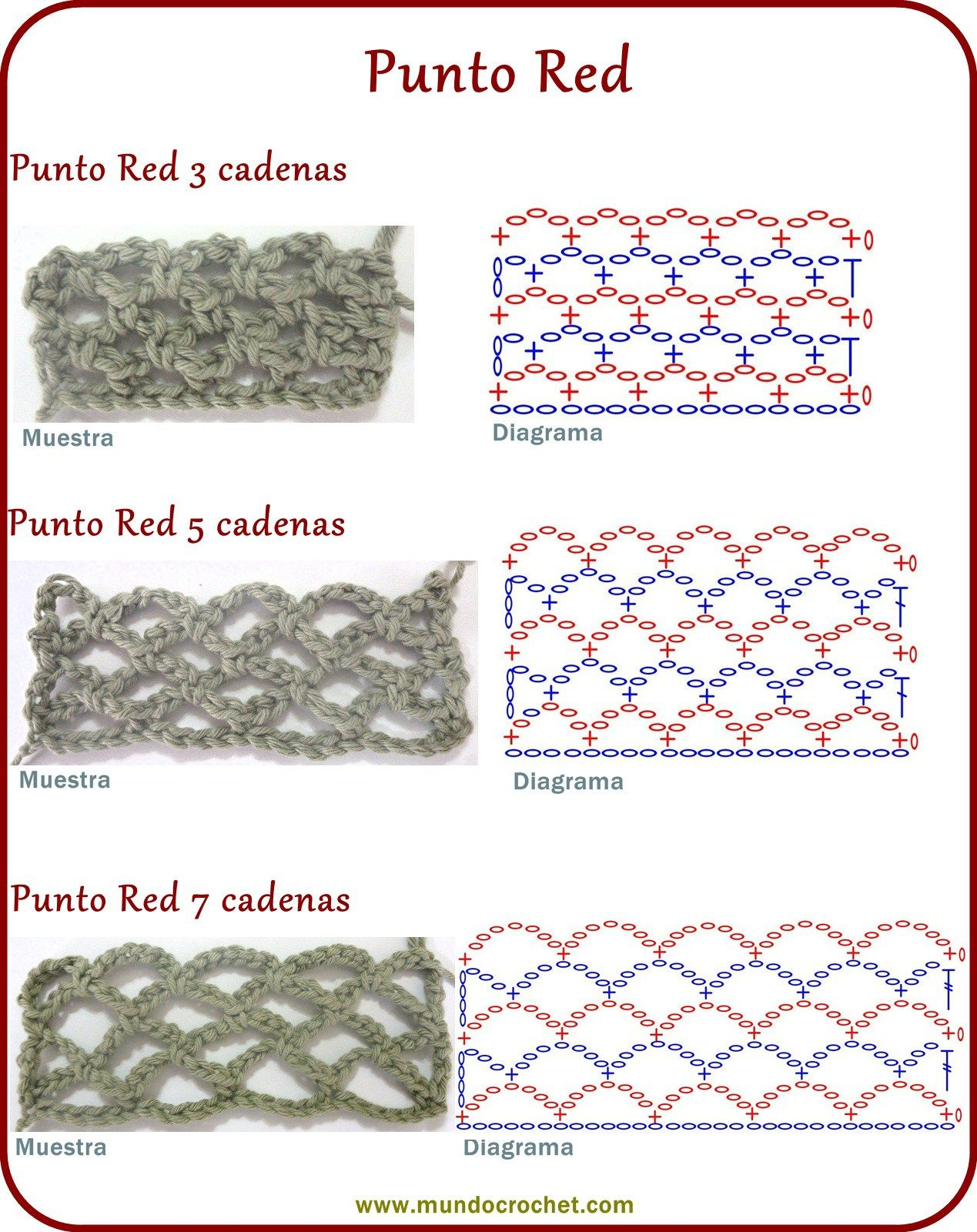 52-Punto red recto | Filet Crochet -סריגת רשת | Pinterest | Crochet ...
