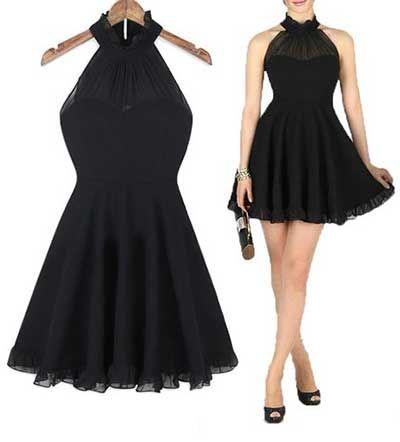 Vestido preto basico para formatura
