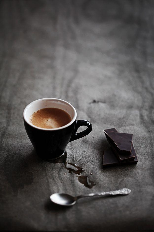 Black espresso and dark chocolate. Simple and perfect.